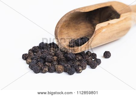 Black Pepper With Spoon