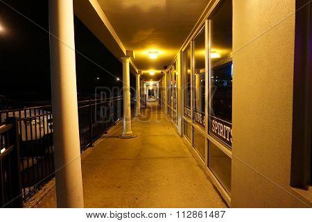 Strip Mall at Night