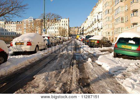Snow covered cars, St.Leonards
