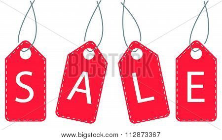 Sale tags vector illustration