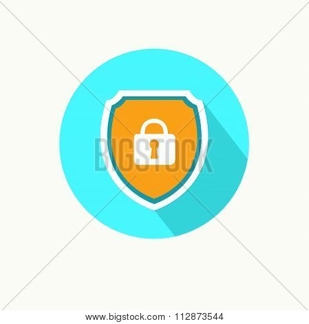 Information security protection vector illustration