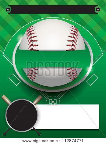 Vector Baseball Tournament Template Illustration