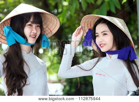 The beauty of girl students in Vietnam