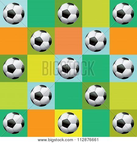 Vector Soccer Pattern Illustration