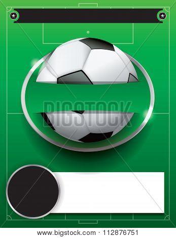 Vector Soccer Football Tournament Template Illustration