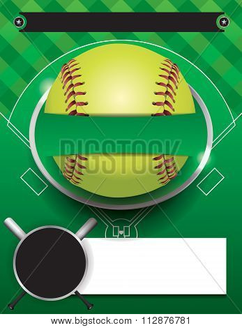 Vector Softball Tournament Template Illustration