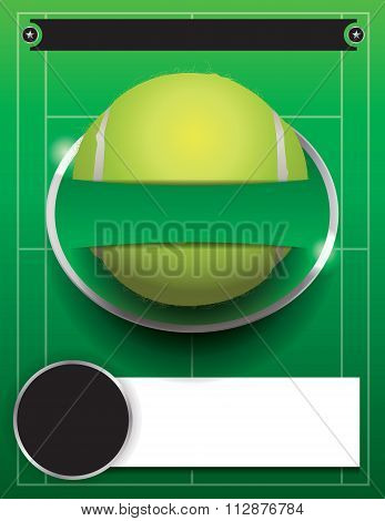 Vector Tennis Tournament Template Illustration