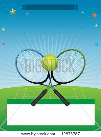 Vector Tennis Tournament Illustration