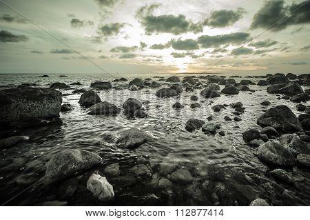 Rocks In Ocean, Connecticut