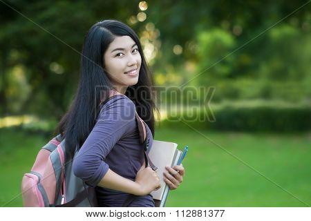 Asian Woman  Campus