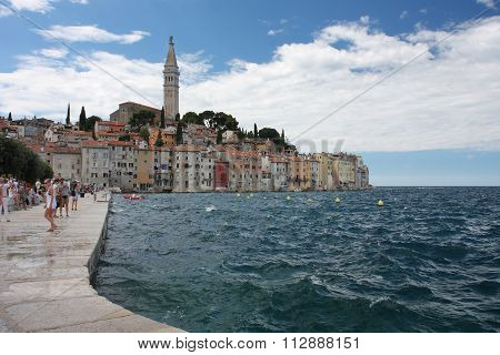 Old Town Rovinj In Croatia In The Summer Day
