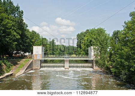 river Nidda in Frankfurt, Germany