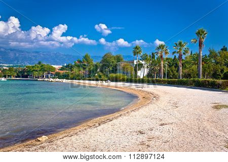 Palm Beach In Novalja On Pag Island