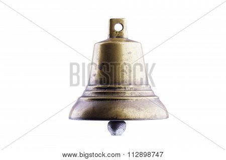 bronze bell isolated on white background