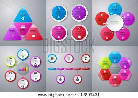 Vector illustration infographics set