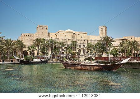 View of luxury 5 stars Madinat Jumeirah hotel