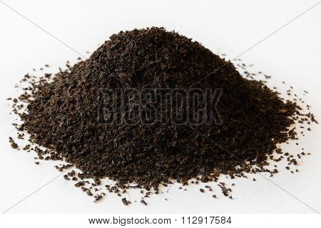 Small Heap Of Black Tea