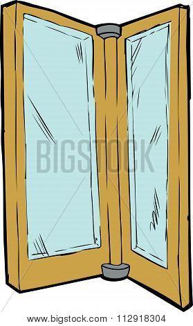 Isolated Revolving Door