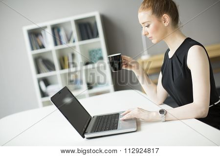 Young Woman Working In The Office