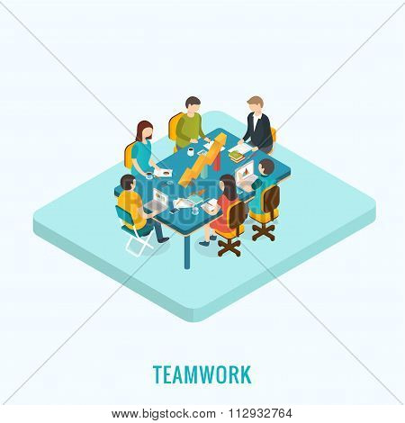 Meeting and teamwork concept