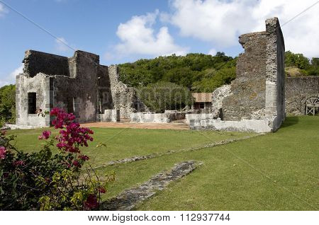 Picturesque Dubuc Castle In Martinique