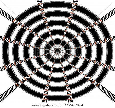 Abstract Bull's eye
