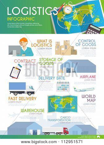 Logistics vector infographic
