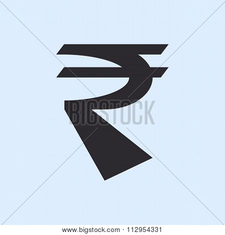 Indian Rupee Sign.
