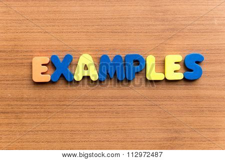 Examples Colorful Word