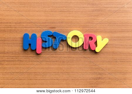 History Colorful Word