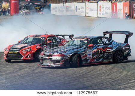 car battles in Asia Pacific D1  Primring Grand Prix 2015