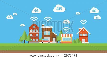 network 4g ifi internet smart city  wireless broadband