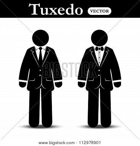 Business Suit And Tuxedo Suit ( Stick Man Wear Business Suit And Tuxedo Suit )