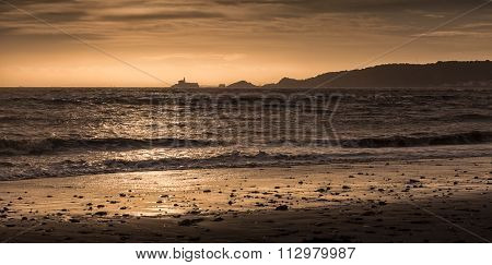 Swansea bay and Mumbles lighthouse