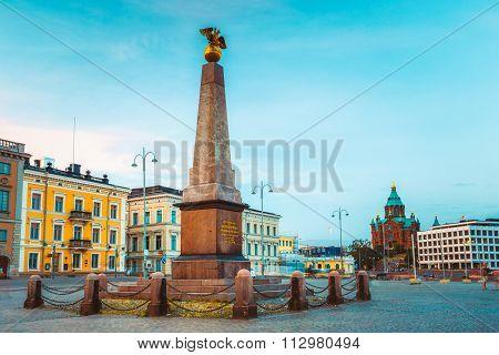 Stela Empress On Embankment In Helsinki, Finland