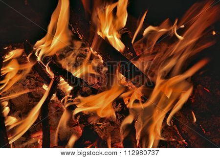 Aflame Wood