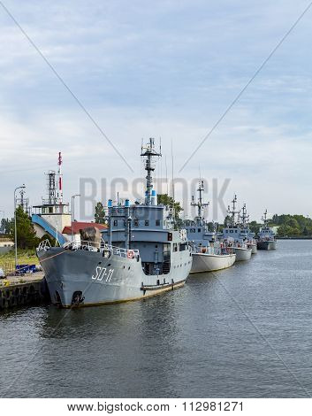 Marine Harbor In Swinemuende, Polan