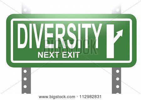 Diversity Green Sign Board Isolated