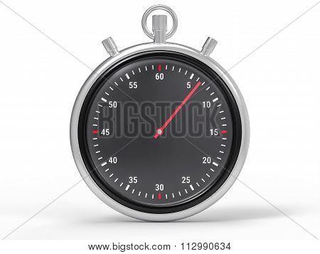 Isolated Metallic Chronometer Background