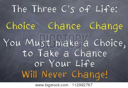 Three C's of Life