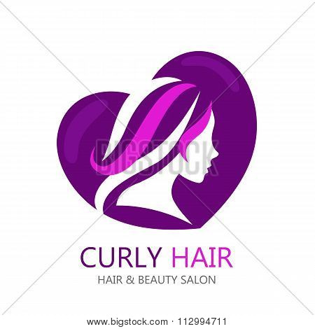 Vector template abstract logo for beauty salon or etc.