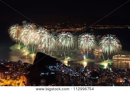 New Year Fireworks in Copacabana