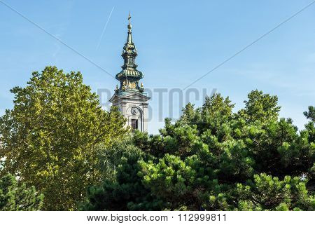 Cathedral Church of St. Michael the Archangel in Belgrade city Serbia poster