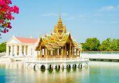 Phra Thinang Aisawan Thiphya-art at Bang Pa-In Royal Palace in Bang Pa-In Ayutthaya Thailand on December 5 2015 poster