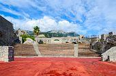 Amphitheatre in fortress Kanli Kula (Bloody Tower) Herceg Novi Montenegro poster