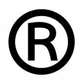 an images of symbol Registered Trademark icon poster