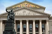 The National Theatre of Munich (Residenztheater) at Max-Joseph-Platz Square in Munich Germany poster