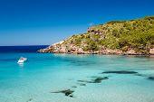 Menorca seascape at cala de Algariens, Spain. poster
