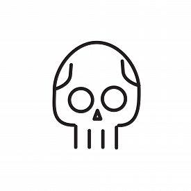 Skull line icon. Danger concept illustration. Line style