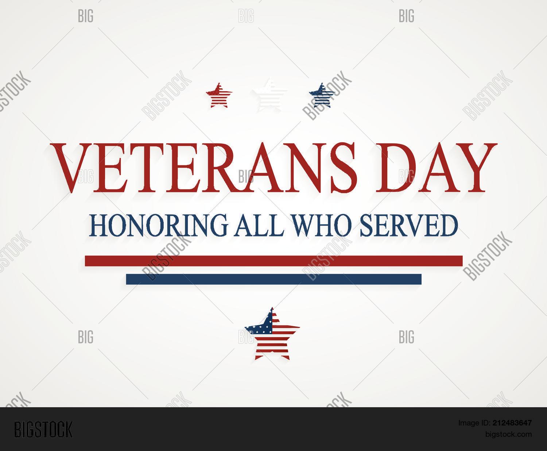Veterans Day Greeting Vector Photo Free Trial Bigstock